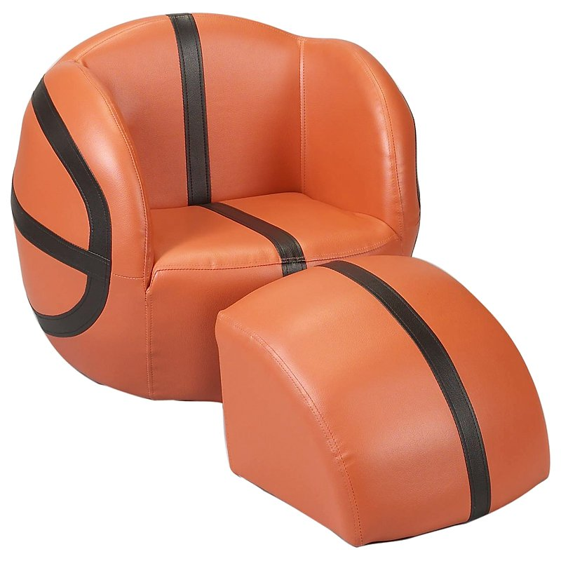 Childs Upholstered Basketball Chair with Ottoman by Gift Mark