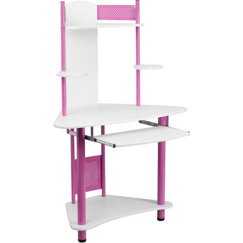 Flash Furniture Student Corner Computer Desk with Hutch, Multiple Colors
