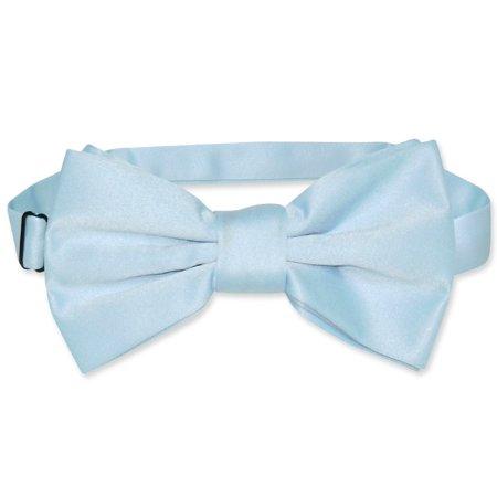 - Vesuvio Napoli BOWTIE Solid BABY BLUE Color Men's Bow Tie for Tuxedo or Suit