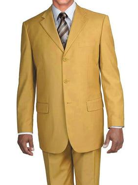 Men's 3 Button Single Breasted Dress Suit , 14 Colors