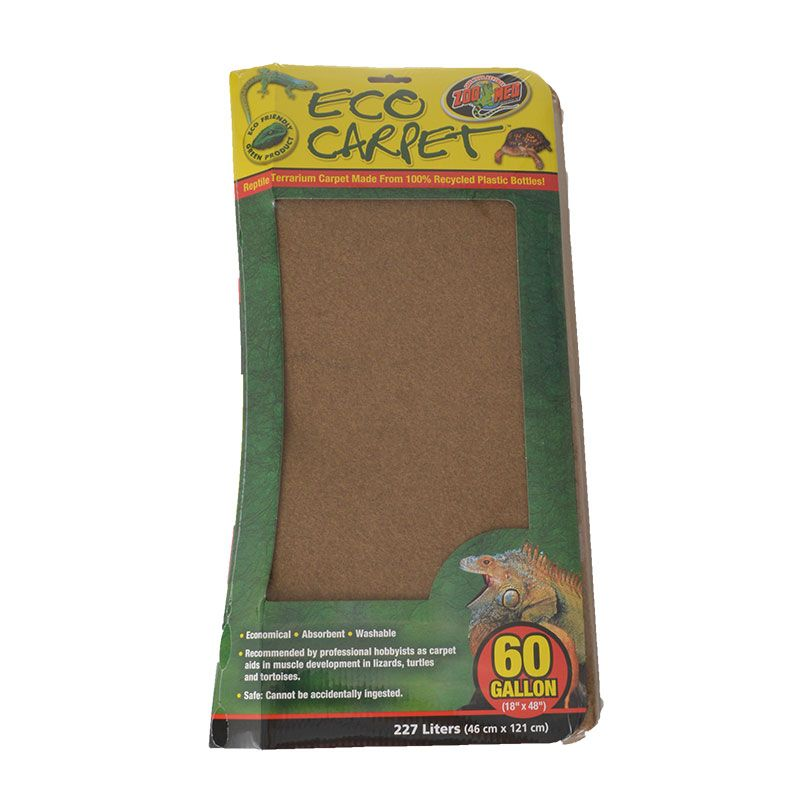 Zoo Med Reptile Cage Carpet 60 Gallon Tanks - 48 Long x 18 Wide (1 Pack) - Pack of 2