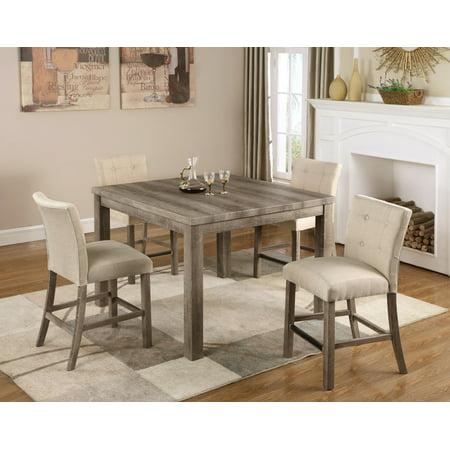 Best Master Furniture Hadley 5-Piece Light Oak Counter Height