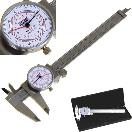 "Anytime Tools Dial Caliper 6"" / 150mm DUAL Reading Scale METRIC SAE Standard INCH MM"