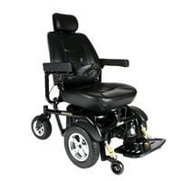 "Drive Medical Trident HD Heavy Duty Power Wheelchair, 24"" Seat"