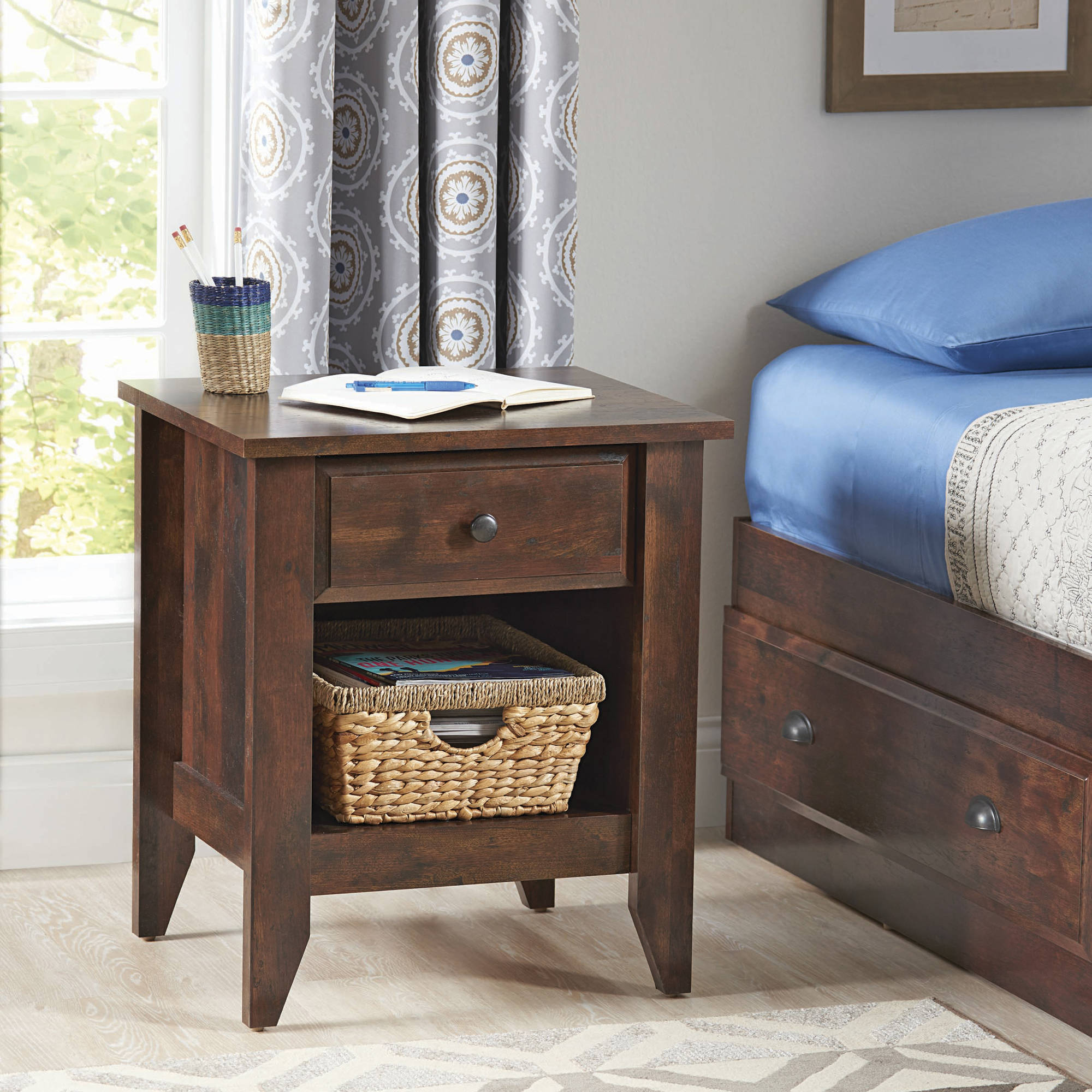 spelndid better home and gardens cookbook. Better Homes and Gardens Leighton Night Stand  Rustic Cherry Finish Collection Walmart com