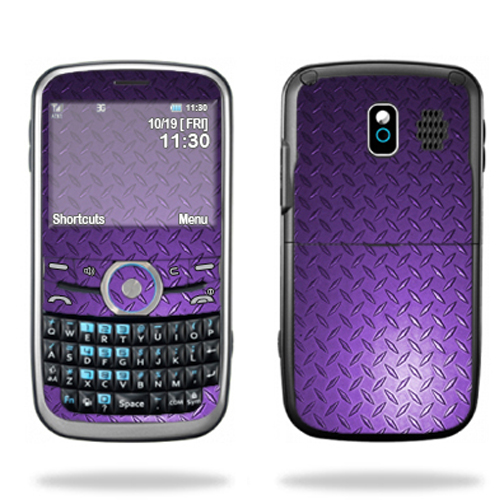 Mightyskins Protective Skin Decal Cover for Pantech Link P7040 Cell Phone wrap sticker skins Purple Dia Plate