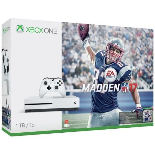 Used Like New Xbox One S 1TB Console - Madden NFL 17 Bundle