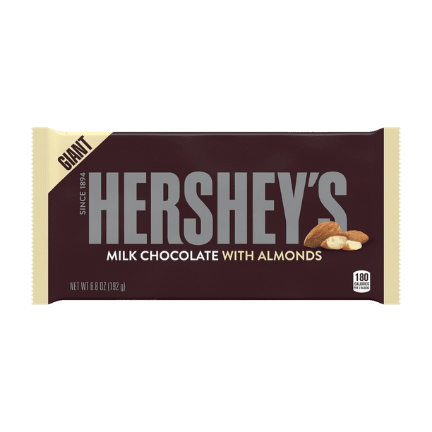 Hershey's, Milk Chocolate with Almonds Giant Candy Bar, 6.8 Oz.