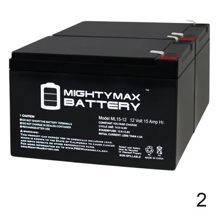 12V 15AH F2 Battery Replacement for Zipr Roo 3 - 2 Pack