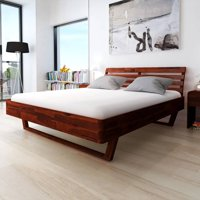 """Bed Frame Solid Acacia Wood 70.9""""x78.7"""""""
