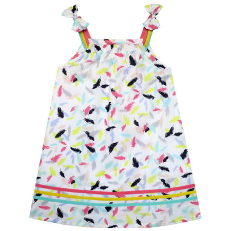 Girls Dress Sleeveless Feather Colorful Silk Decoration 2](Feathers For Dresses)