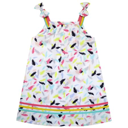 Feathers For Dresses (Girls Dress Sleeveless Feather Colorful Silk Decoration)