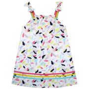Girls Dress Sleeveless Feather Colorful Silk Decoration 2