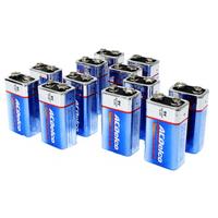 ACDelco 9V Batteries, Super Alkaline 9-Volt Battery, 12-Count