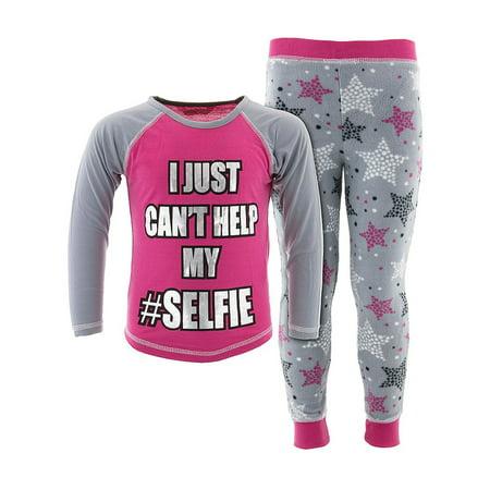 Katnap Kids Girls Can't Help My Selfie Pink Pajamas
