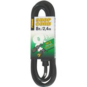Prime Wire 8-Foot 16/3 SJTW Indoor and Outdoor Extension Cord, Black