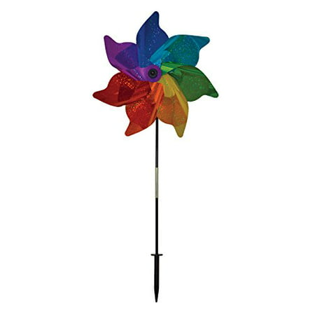 In the Breeze Rainbow Sparkle Pinwheel Spinner, 18-Inch](Rainbow Pinwheel)