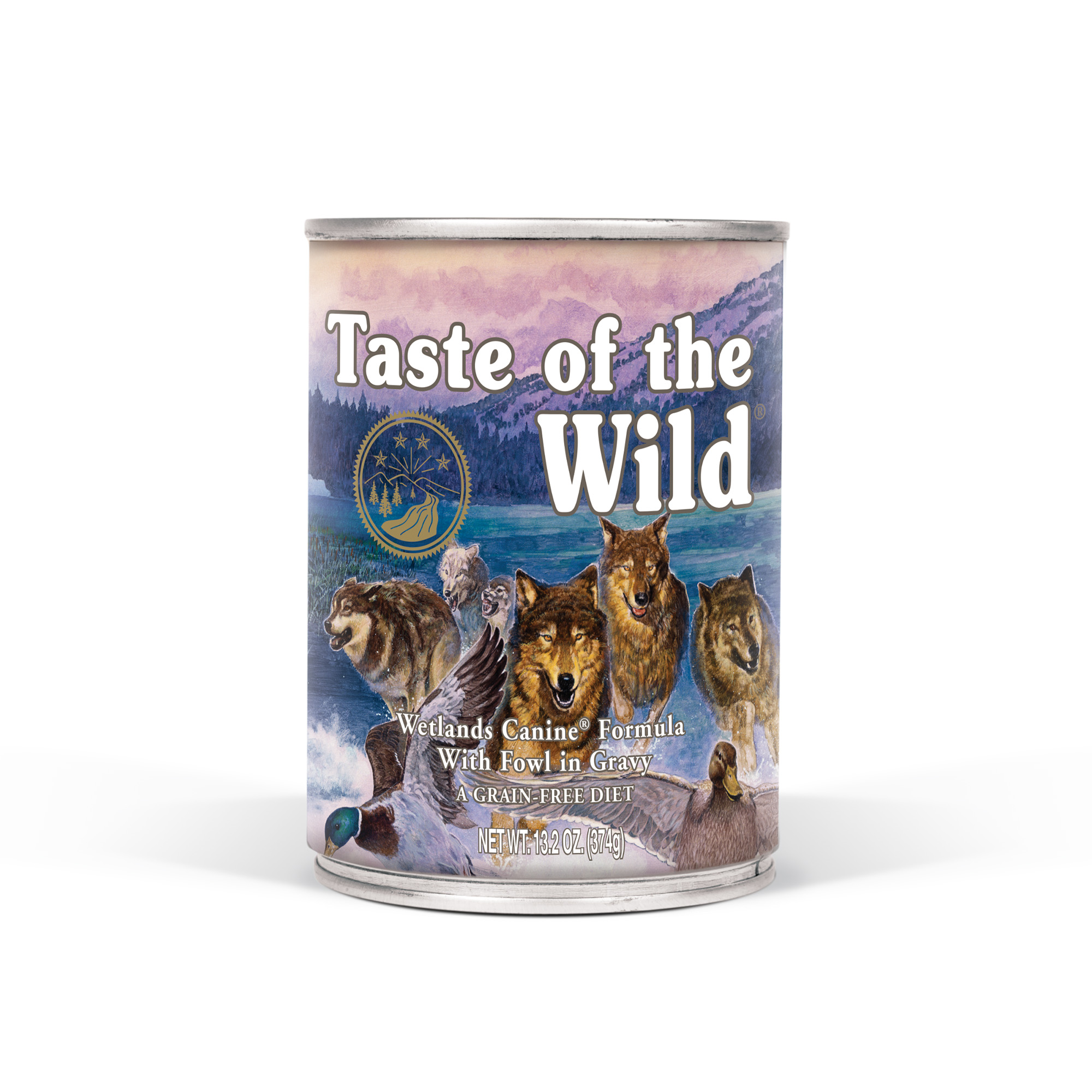 Taste of the Wild Wetlands Grain Free Wet Canned Dog Food with Roasted Duck 13.2oz, Case of 12
