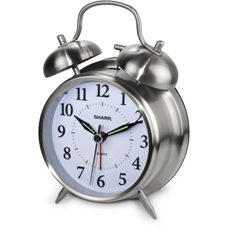 sharp twinbell quartz analog alarm clock walmart com