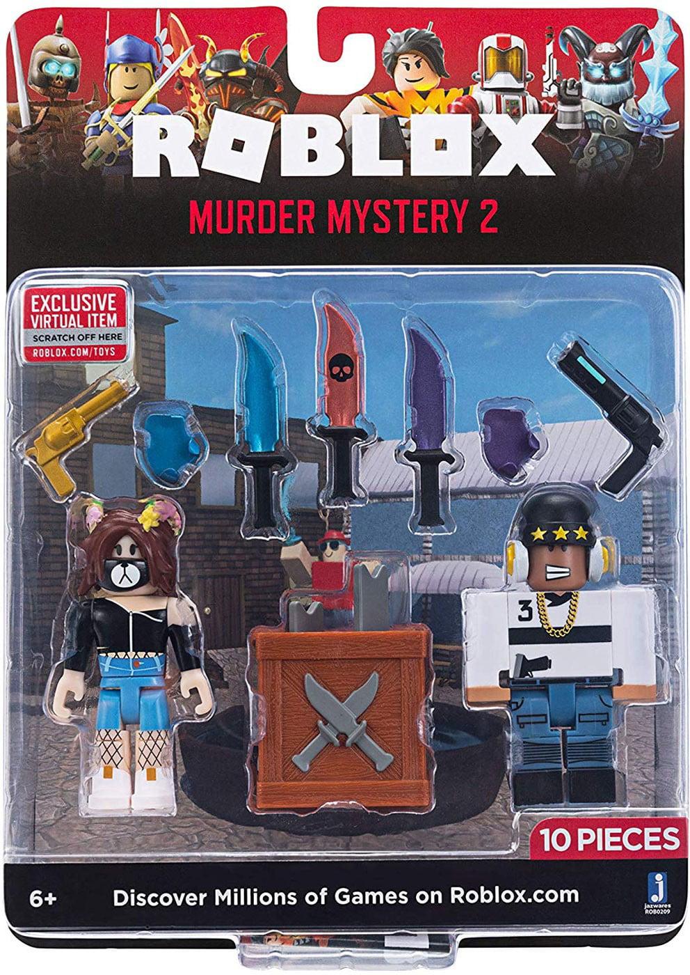 Roblox Wwwtoyscom Roblox Game Packs Murder Mystery 2 W6 Walmart Com Walmart Com