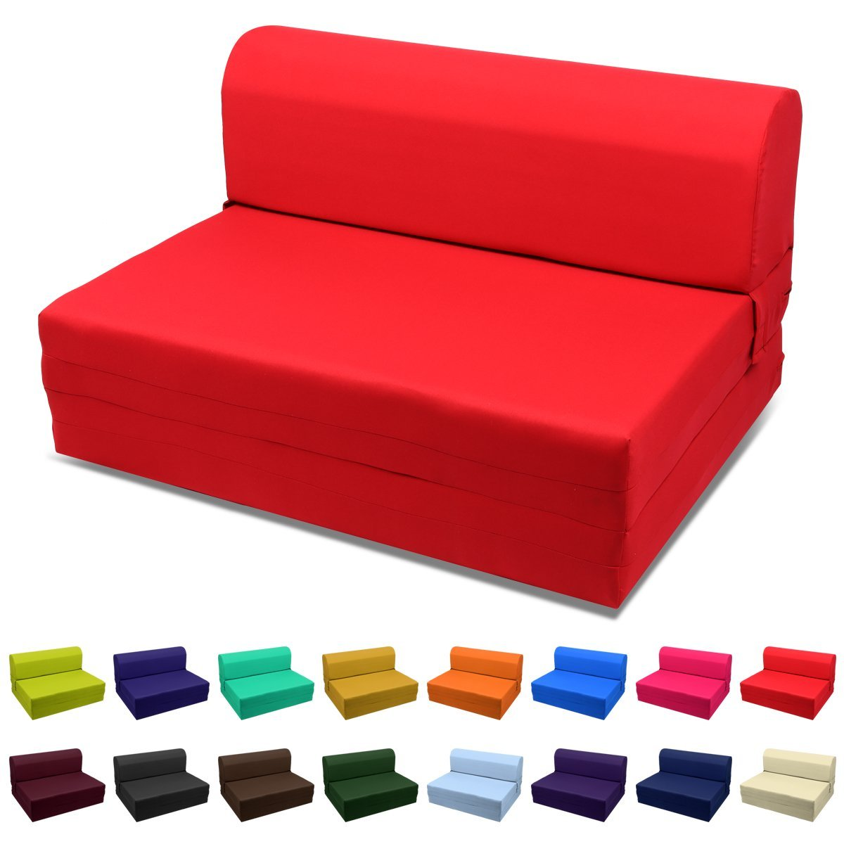 Picture of: Magshion Sleeper Chair Folding Foam Bed Sized Full Size 5x46x74 Inch Red Walmart Com Walmart Com