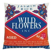 Koko Company 91615 Rice- Pillow- 20X20- Cotton- Wild Flower Print.