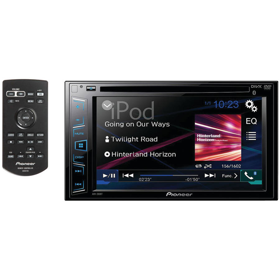 "Pioneer AVH-190DVD 6.2"" Double-DIN In-Dash DVD Receiver with WVGA Clear-Resistive... by Pioneer"