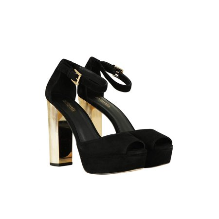 Michael Michael Kors Womens Paloma Platform Peep Toe Special Occasion Ankle S... Bow Peep Platform