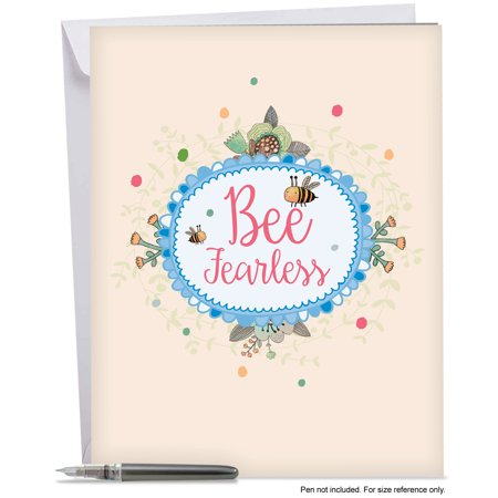 J6548dgdg Big Graduation Greeting Card  Let It Bee Featuring A Sweet Bumblebee Combined With A Floral Frame And A Cute Bee Saying  Greeting Card With Envelope By The Best Card Company