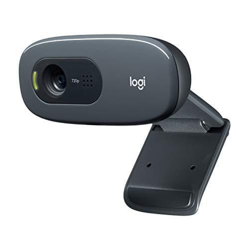 logitech c270 hd webcam, hd 720p, widescreen hd video calling, hd light correction, noise-reducing mic, for skype, facetime, hangouts, webex, pc/mac/laptop/macbook/tablet - black - Walmart.com