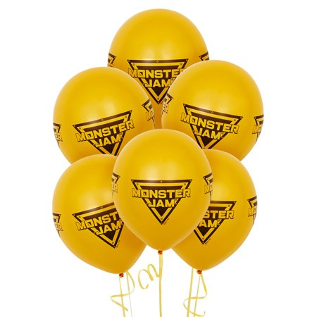 Monster Jam Party Supplies - Latex Balloons (6) (Monster Jam Birthday Party Supplies)