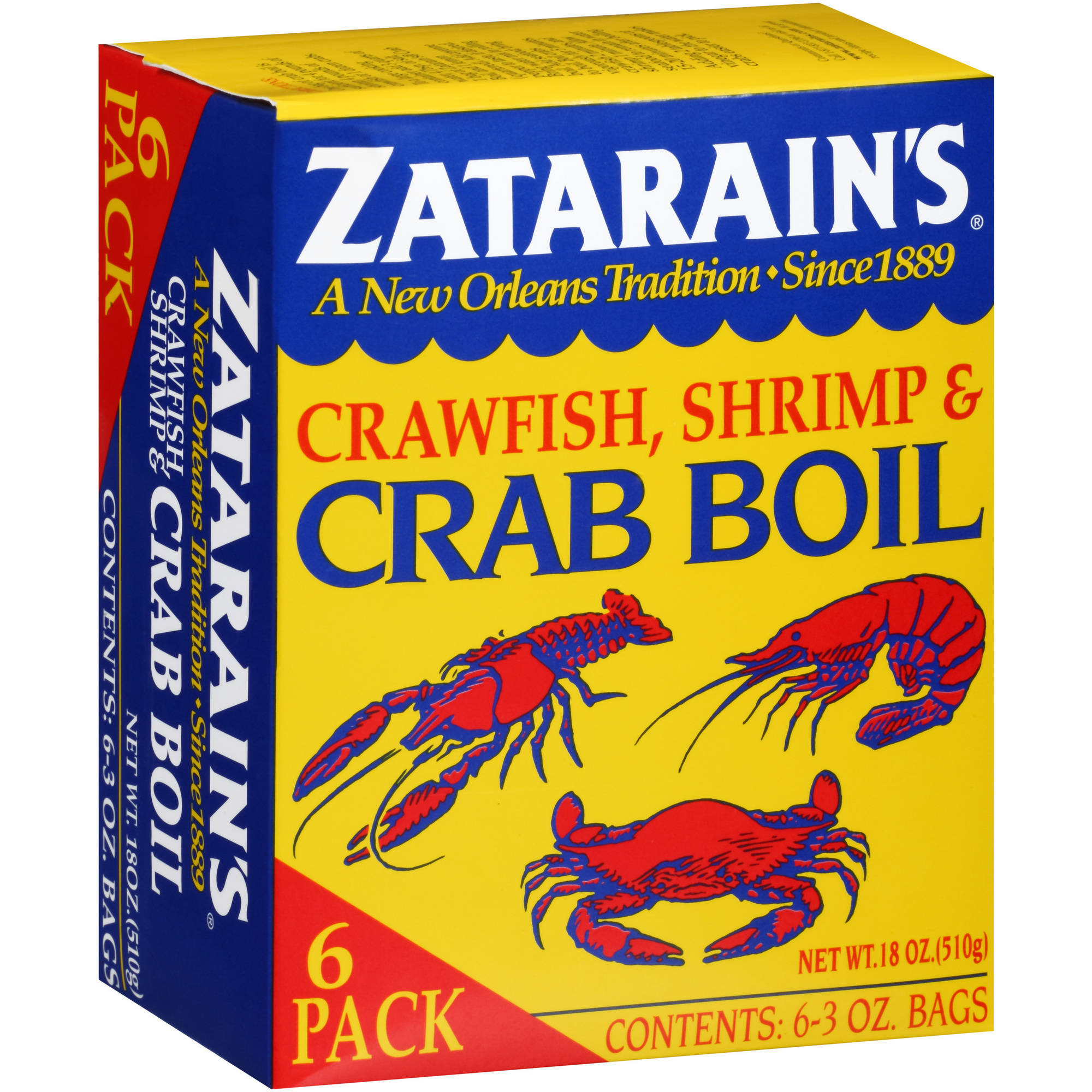 Zatarain's Crawfish, Shrimp & Crab Boil, 3 oz, 6 count