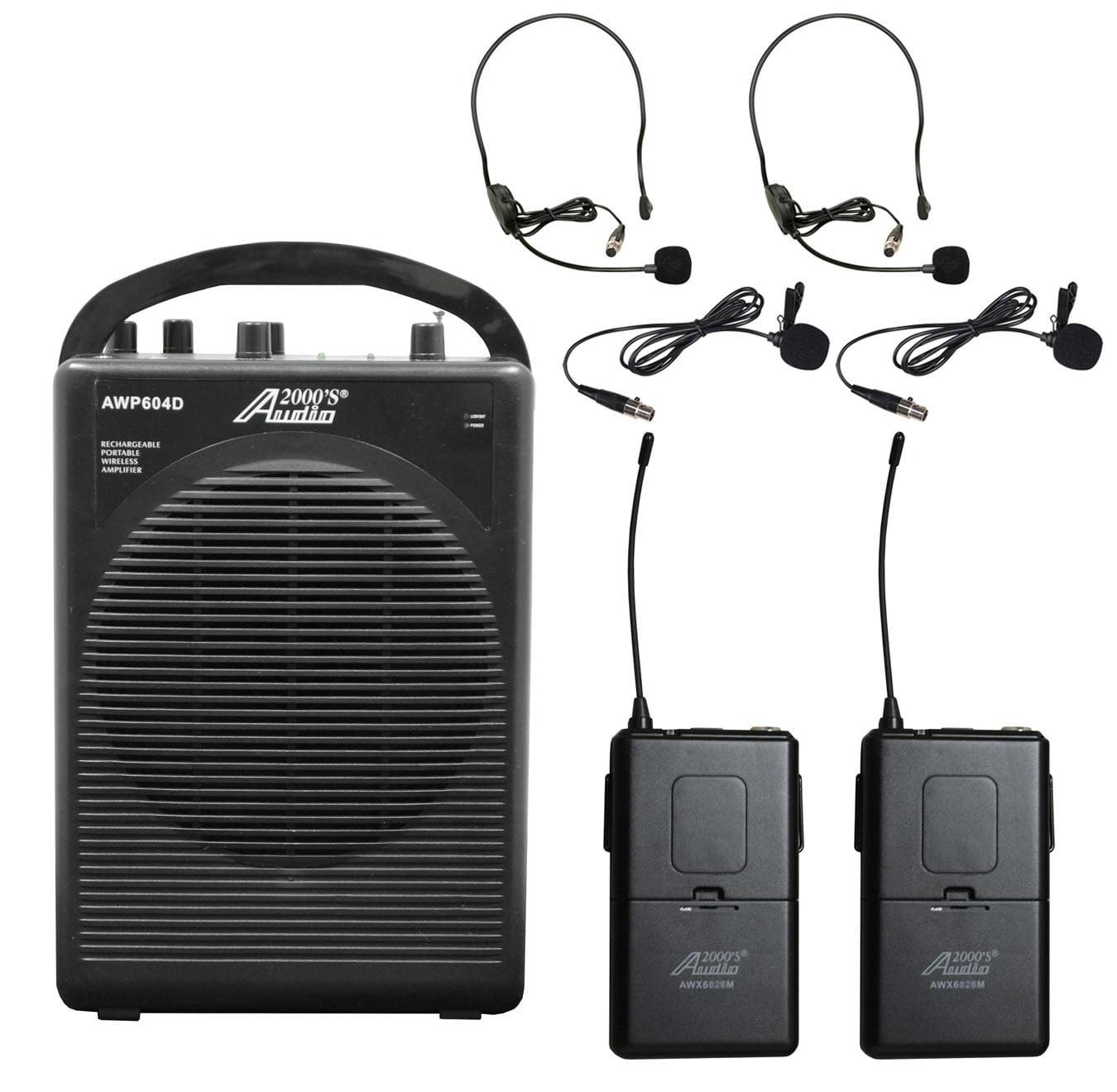 Audio2000 AWP604DM 25W Dual Channel Combo Wireless Microp...