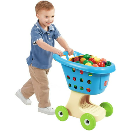 Step2 Grocery Cart Blue Plastic Pretend Play Shopping Cart](Shopping For Toys)