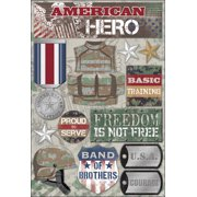 Cardstock Stickers-American Hero