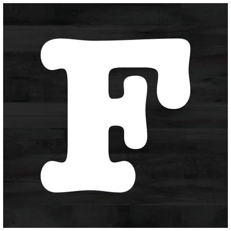 Farmhouse Faux Wood Single Letter Cutout Vintage Ready To Hang Wall Monogram Home Decor, Black Wood, 12x12 (Aluminum)