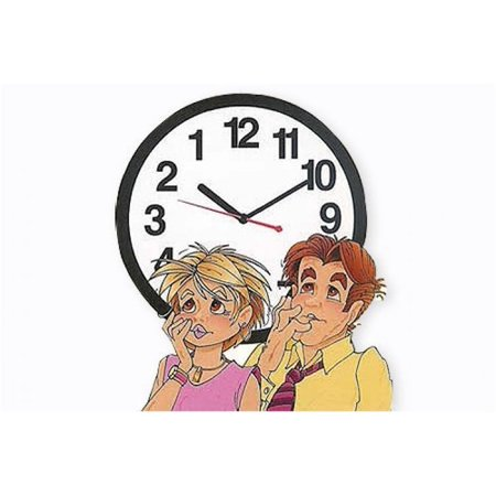 Black Backwards Wall Clock, Runs Counterclockwise and -