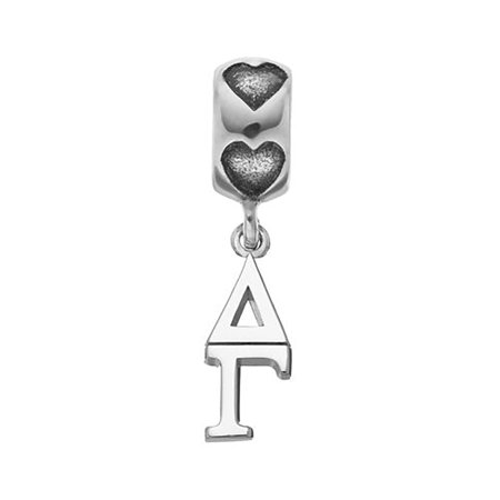 lex lu logoart sterling silver 58 delta gamma vertical letters on heart