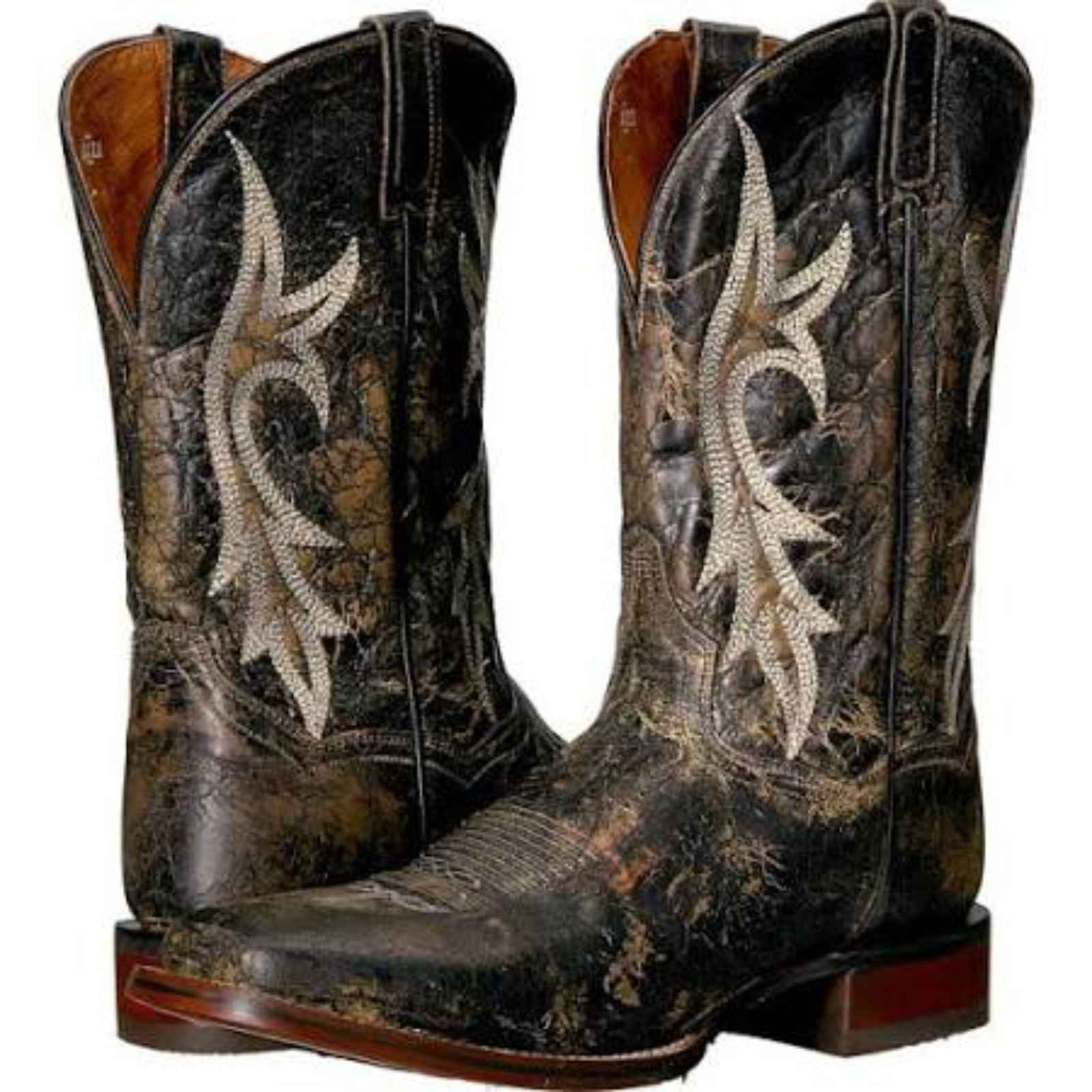 "Dan Post Men's 12"" Black Distressed Junction Cowboy Boot,DP4541 by DAN POST"