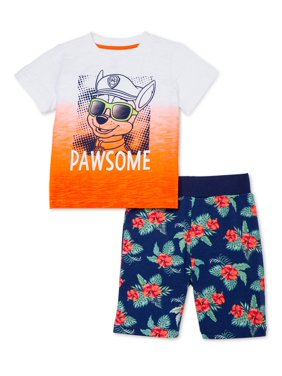 Paw Patrol Baby Toddler Boy T-shirt & Shorts, 2pc Outfit Set