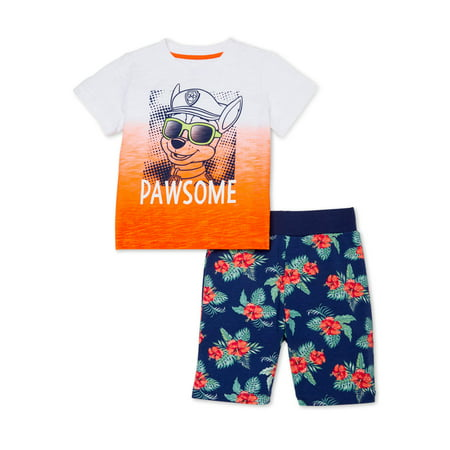 Paw Patrol Baby and Toddler Boys T-shirt & Shorts, 2-Piece Outfit Set Paw Print Clothes