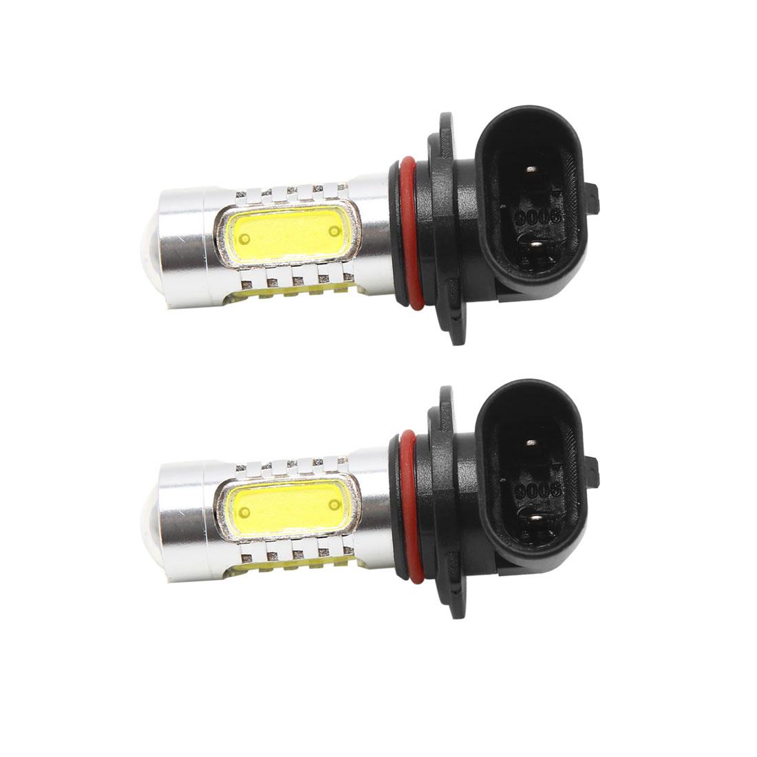 2pcs 12V 7.5W 9006 5 White LED DRL Headlamp Fog Light Bulb for Car Automobile - image 2 of 2