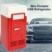 Flmtop Mini Portable Auto Home Space Saving Food Drinks Storage USB Refrigerator Cooler