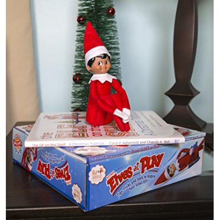 The Elf on the Shelf: A Christmas Tradition - Brown Eyed North Pole Elf Boy with Elves at Play (Elf On The Shelf A Christmas Tradition)