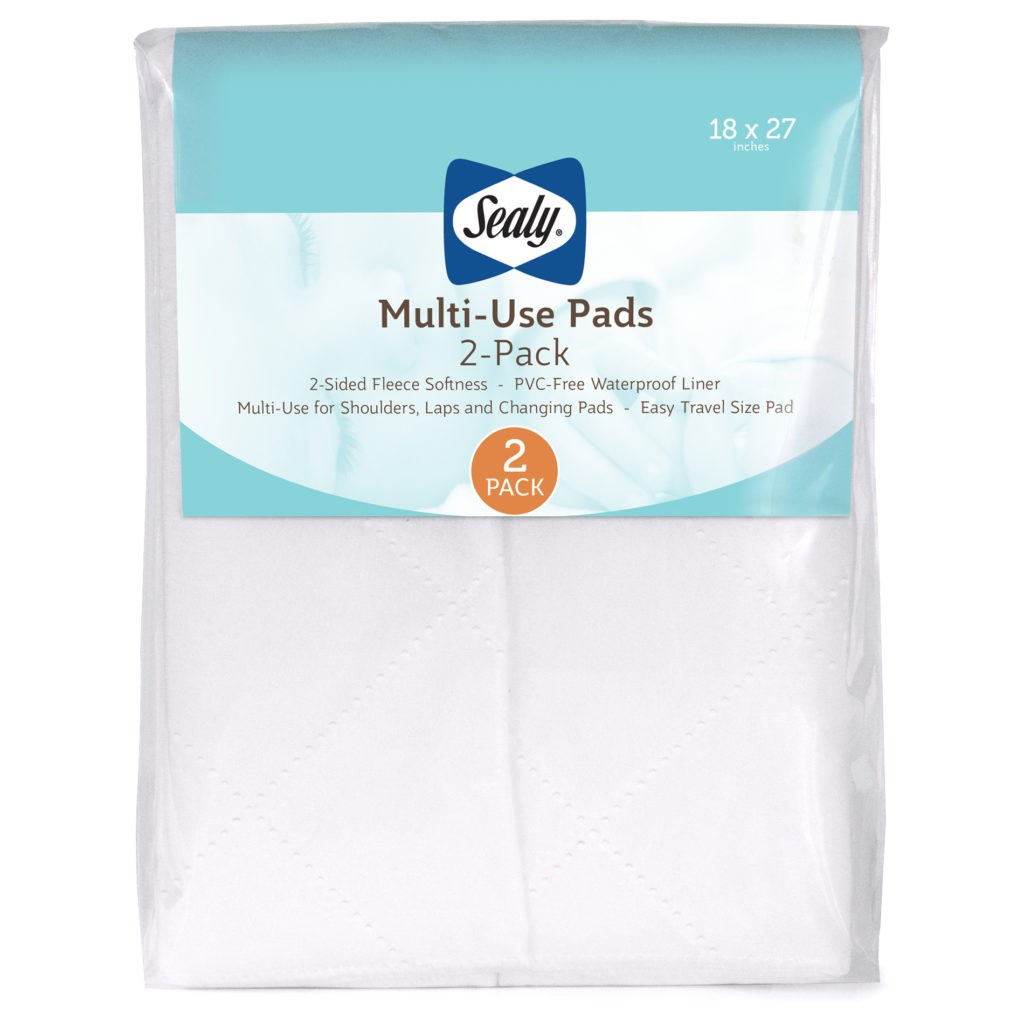 Sealy Multi-Use Liner Pads with Waterproof Liner, 2 Pack