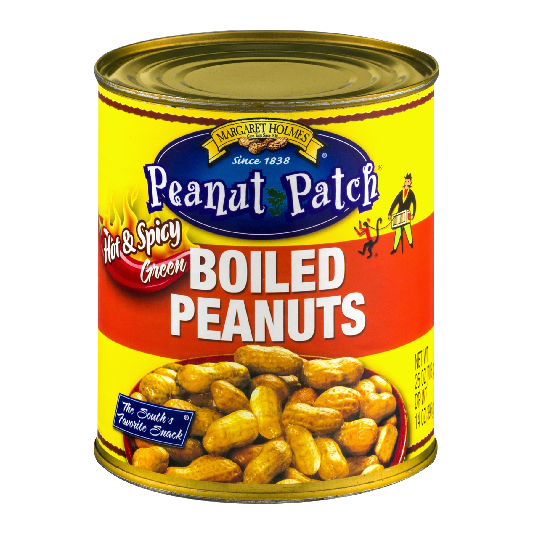 (6 Pack) Peanut Patch Hot & Spicy Green Boiled Peanuts, 25 oz