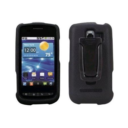 Body Glove Rubberized Snap-On Case with Belt Clip for LG Vortex VS660 - Black