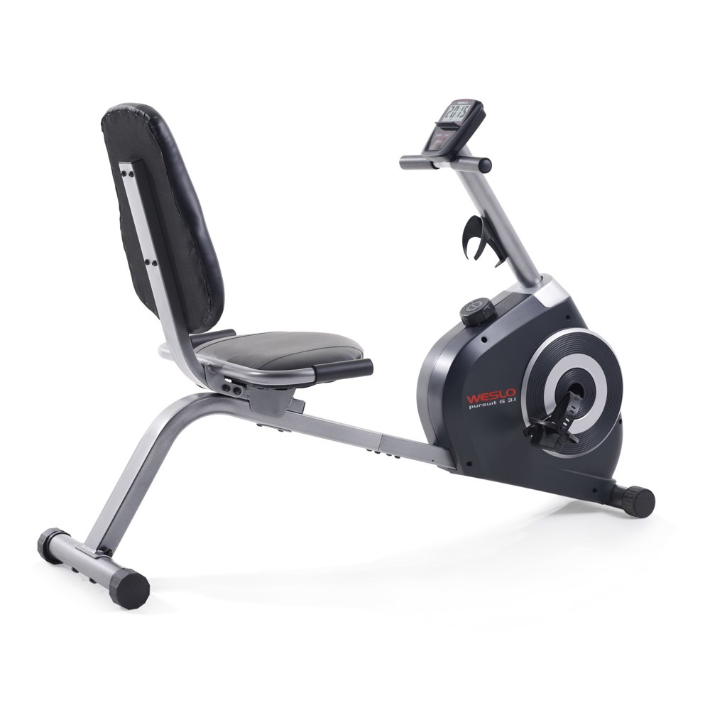 Weslo Pursuit G 3.1 Recumbent Exercise Bike with Tablet Holder and Inertia-Enhanced Flywheel