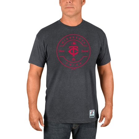 Minnesota Twins Majestic Authentic Collection Clubhouse Team Issue T-Shirt - Heathered Charcoal