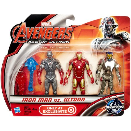 Action Figure Multi Pack - Marvel Avengers Age of Ultron Iron Man vs Ultron Action Figure 3-Pack